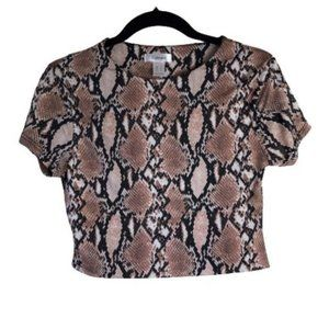ReVamped • Cropped Snake Print Blouse